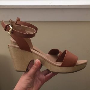 Old navy ankle strap chunky heels